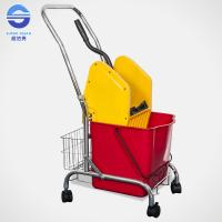Wholesale Hotel House Keeping Down Press Mop Wringer Bucket Mopping Trolley 7.5KG from china suppliers