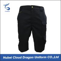 Wholesale 180g Navy Blue Security Guard Pants / Mens Ripstop Work Short Pants , Hand / Machined Wash from china suppliers