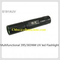 Wholesale MINI Slim 3W High Power 395NM Ultraviolet Pocket Led Flashlight Taking 18650 Battery from china suppliers
