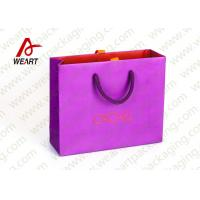 Wholesale Pink Holiday Goodie Christmas Paper Bags No Minimum Hot Foil LOGO from china suppliers