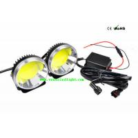 Wholesale Universal Car COB LED Daytime Running Light 3.5W Round White Waterproof 12V 24V DRL from china suppliers