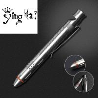 Quality Hot Sale Break Glass Head  stainless steel tactical ball pen with whistle and gift self defense tool for sale