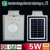 Wholesale Aluminium Alloy Housing Outside Led Solar Street Lights 5W 6000k - 6500k Durable from china suppliers