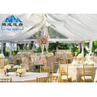 1000 Seater Wedding Event Tents With White PVC Walling 7.2M Ridge Height