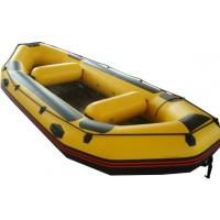Wholesale Yellow Small PVC / Hypalon Rafting Inflatable Drift Boat For Summer from china suppliers