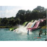 Wholesale Racer Water Slide 5 Line Open Flume Water Park Slide , Water Playground Equipment from china suppliers