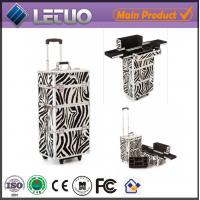 Wholesale Zebra Makeup Trolley professional makeup trolley case from china suppliers