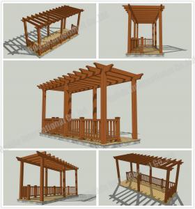 Quality wood plastic composites Patio pergola veranda designs 16.4ft.*8.2ft.*9.35ft.(OLDA-5200A) for sale
