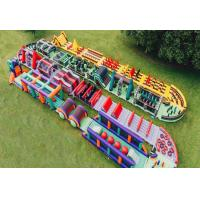 Buy cheap Fireproof Fun Run Inflatable Sports Games / Inflatable Obstacle Challenge from wholesalers