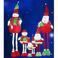 Wholesale Large Santa Doll and Snowman With Streaching Leg Christmas Holiday For Celebrate Party from china suppliers