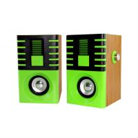 Wholesale powerful wood 2.0 multimedia stereo speaker with AC power/220V speaker subwoofer from china suppliers