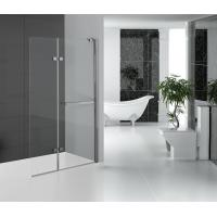 China Folding Glass Shower Doors Hinged Shower Screen Chromed Aluminum Profile on sale