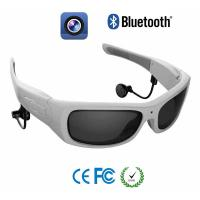 Wholesale White Round Frame Wireless Video Recorder Glasses For Security , Sport , Driver from china suppliers