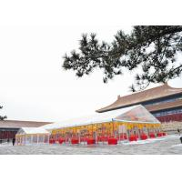 Wholesale 500 People Glass Wall Clear Roof Wedding Party Tent With Glass Doors Aluminum Frame from china suppliers
