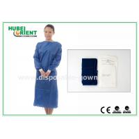 Wholesale XL SMS Nonwoven Disposable Surgical Gowns with Knitted Wrists , CE ISO from china suppliers