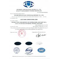 Ningbo Rongguang Power Machinery Co.Ltd Certifications