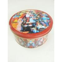 Wholesale Christmas Cookie Tin Storage Containers , Food Storage Cylindroid Small Tin Boxes from china suppliers