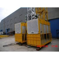 Quality Floor / Sliding Door Construction Hoist Elevator Single Or Double Cages for sale