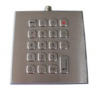 Wholesale 19 keys compact format IP67 dynamic vandal proof Stainless Steel industrial keypad from china suppliers