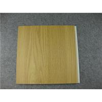 Quality Laminated wooden pattern decoration pvc wall boards feels like nature wood for sale