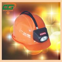 Buy cheap Atex Approval Digital And Cordless Cree Mining Hard Hat LED Lights , Miner Helmet Light from wholesalers