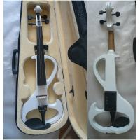 Wholesale White Melodie Solid Basswood Electric Violins Full Size Junior Student Violin from china suppliers