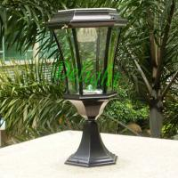 Wholesale Aluminum outdoor gate light solar light post LED Solar Garden Light (DL-SP735B) from china suppliers
