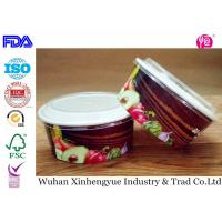 Wholesale Biodegradable Disposable Paper Food Containers With Clear Lids , No Smell from china suppliers