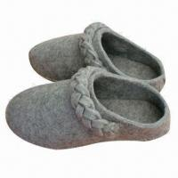 Wholesale Women's Indoor Felt Slippers, Made of 100% Polyester, Customized Designs and Sizes are Accepted from china suppliers
