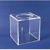 Wholesale Acrylic Storage Boxe , Clear Acrylic Suggestion Box 5mm x 150mm x150mm from china suppliers