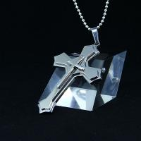 Wholesale Fashion Top Trendy Stainless Steel Cross Necklace Pendant LPC417-1 from china suppliers