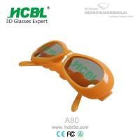 Wholesale Colored Frame Reusable Kid 3D Glasses For Boy / Girl With Free 1C Logo Printing from china suppliers