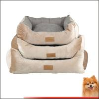 Wholesale dog pet beds Stripes short plush pp cotton pet beds china factory from china suppliers