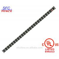 Wholesale IEC 60320 C13 C14 PDU POWER STRIP Smart 24 Jacks Power Bar For Server , Rack mounted Outlets from china suppliers