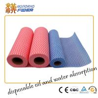 Wholesale Spunlace Nonwoven Household Cleaning Wipes 40gsm Weight Red Color from china suppliers