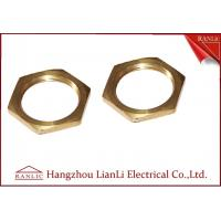 Wholesale Brass 20mm 25mm Hexagon Locknut Self Color CNC Machine Processing Female Thread from china suppliers