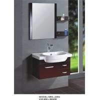 Wholesale Red grape wine square type Solid Wood Bathroom Cabinet custom made from china suppliers