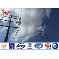 Buy cheap Octagonal Round Power Transmission Poles Electrical Galvanized Steel Electric Pole from wholesalers
