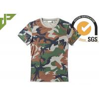 Quality Woodland Army Military Police T Shirts With 100%Polyester Bamboo Material for sale
