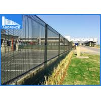 Quality ClearVu 358 Steel Panel Fence Anti Climb Fence With 4mm Vertical Wire for sale