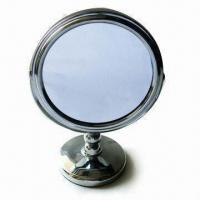 Wholesale Stand-free Makeup Mirror, Made of Stainless Steel, Customized Logos are Accepted from china suppliers