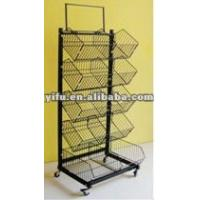 Wholesale Five Divided Supermarket Basket Display Rack from china suppliers