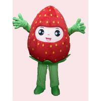 Wholesale handmade adults full-body strawberry mascot cartoon cosplay fruit costumes for party from china suppliers
