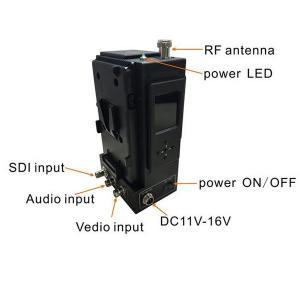 Quality cctv camera broadcast 900mhz COFDM hd sdi video wireless mobile transmitter for sale