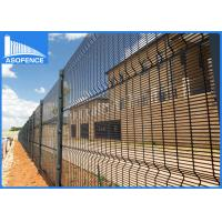 Wholesale Green Heavy Clearvu Security Fence , 4mm Welded Wire Mesh Panels Square / H Post from china suppliers