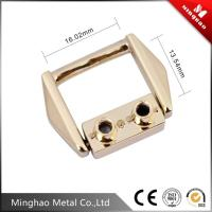 Quality 16.02*13.54mm Gold metal bag buckle,metal strap bag clip buckle for sale