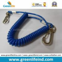 Wholesale Solid Blue Plastic Elastic Spring Belt Coil Bungee Lanyard from china suppliers