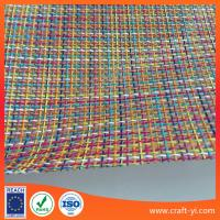 Wholesale chromatic 1X1 weave Textilene mesh fabrics textile PVC coated outdoor fabric from china suppliers