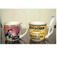Wholesale Export 9303 There spoon ceramic mug custom LOGO coffee mark cup from china suppliers