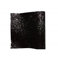 Wholesale PU Textile Chunky Glitter Fabric Wall Coverings Black Wallpaper 25cm*138cm from china suppliers